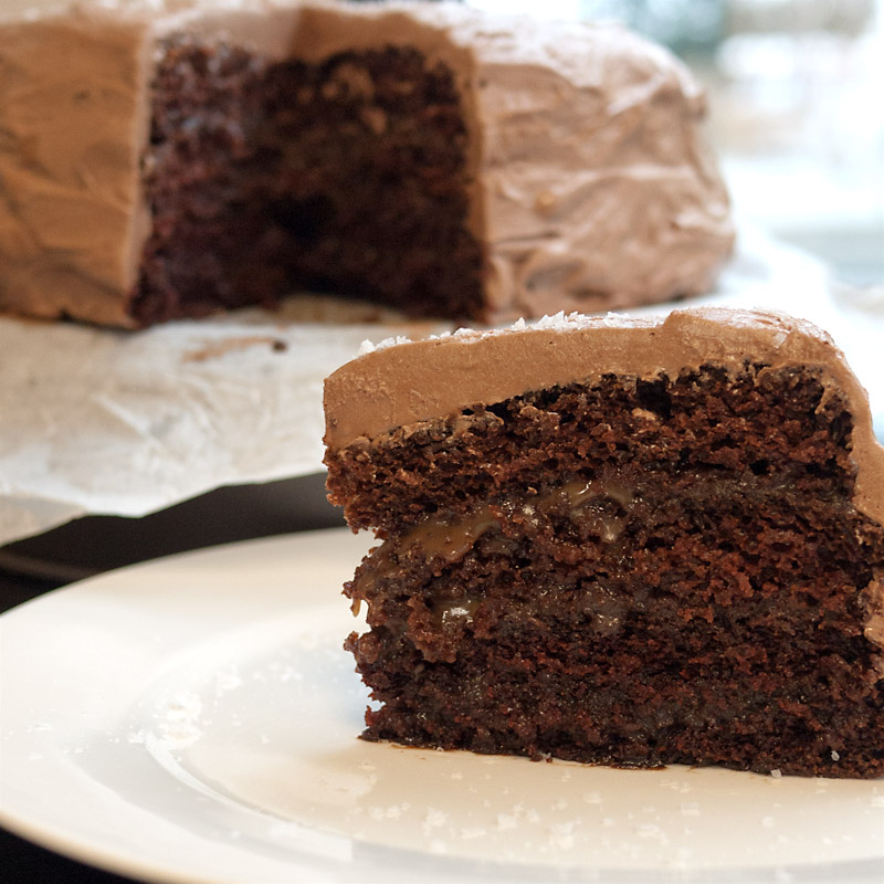 chocolate caramel layer cake thelittleloaf chocolate layer cake ...