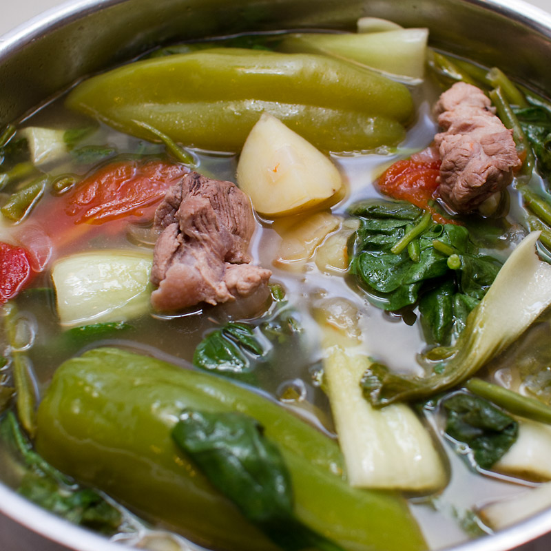 Salmon-Miso Sinigang (Filipino Sour Soup) Recipes — Dishmaps