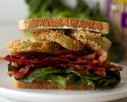 fried green tomato blt