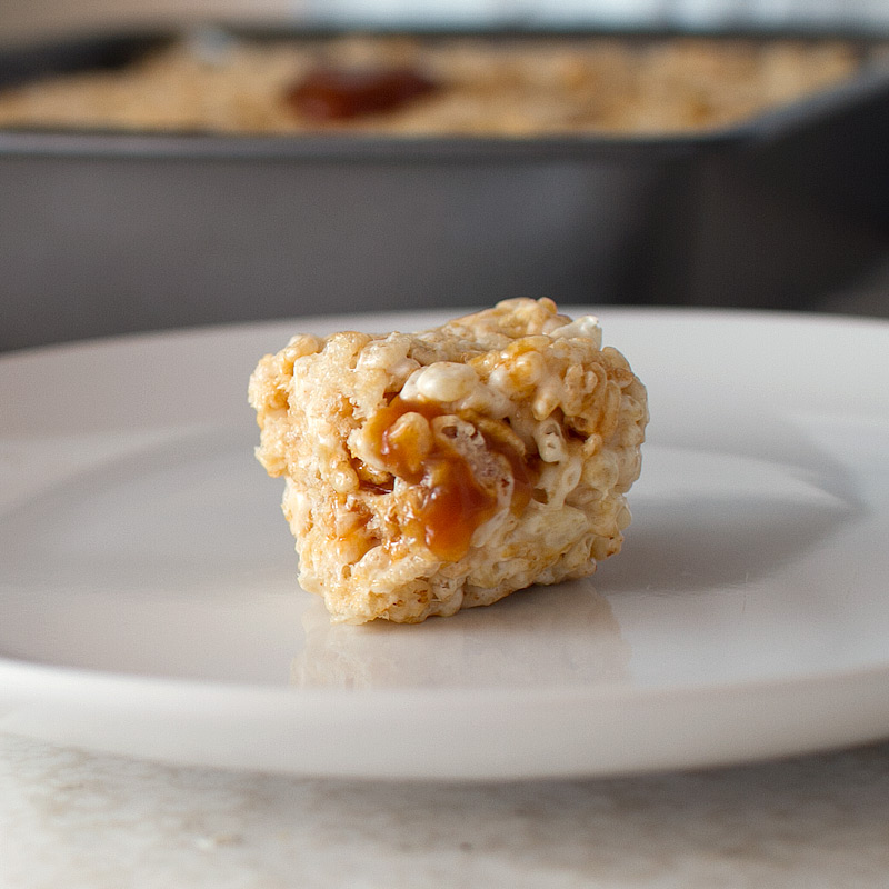 Brown Butter Salted Caramel Rice Krispie Treats - FMITK: From My ...