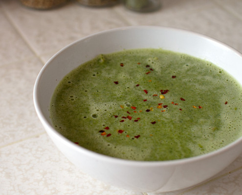 spinach and coconut milk soup