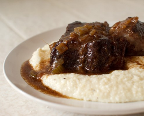 cocoa and chinese five spice braised short ribs