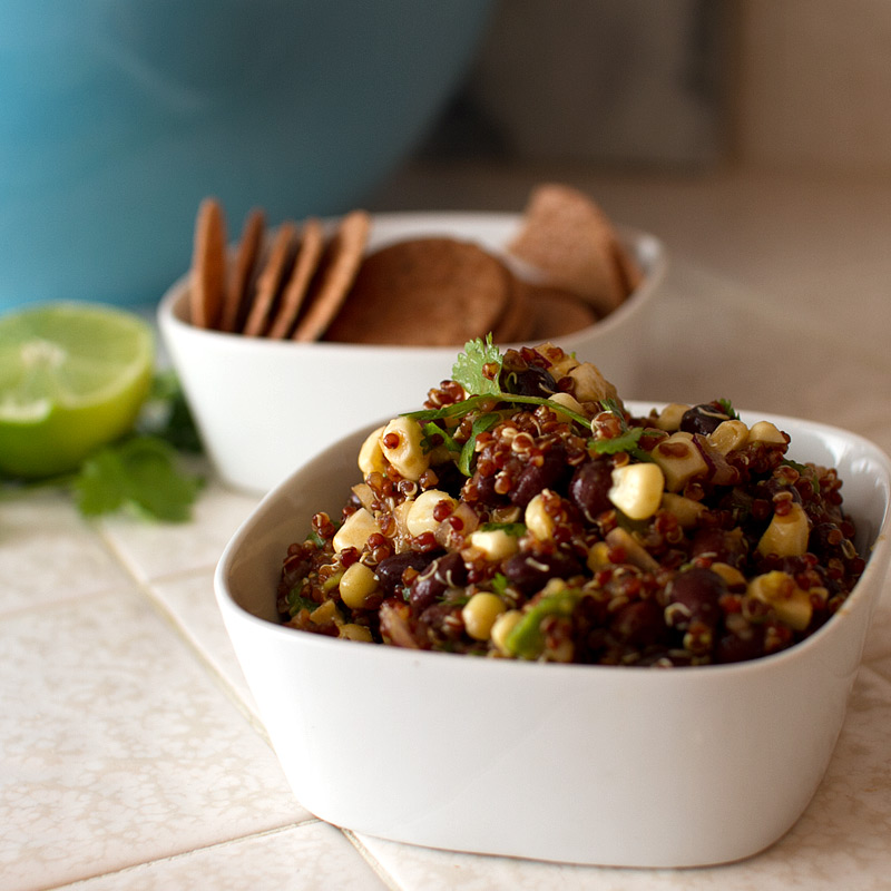 Smoked Corn, Red Quinoa and Black Bean Salad - FMITK: From My ...