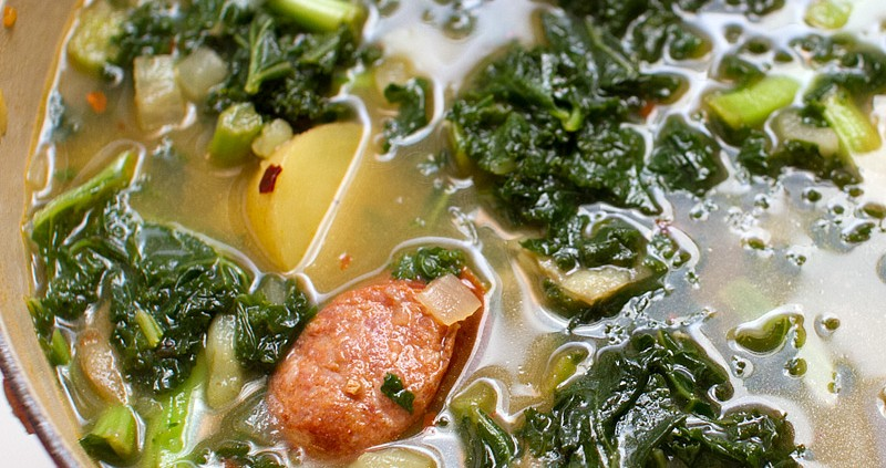 Spicy Sausage, Kale and Potato Soup - FMITK: From My Impossibly Tiny ...