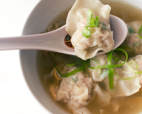 pancit molo - filipino pork dumpling soup on fmitk.com