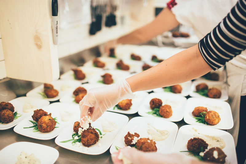 Second course - hush puppies with goat cheese, scallion slaw and remoulade. photo credit: Chantal Pasag | Pasagraphy