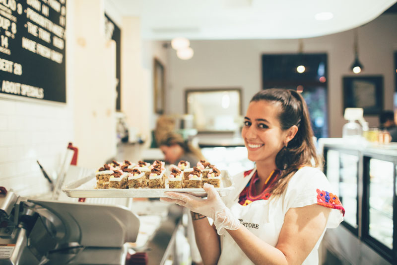 The beautiful Bianca and her delicious dessert! photo credit: Chantal Pasag | Pasagraphy