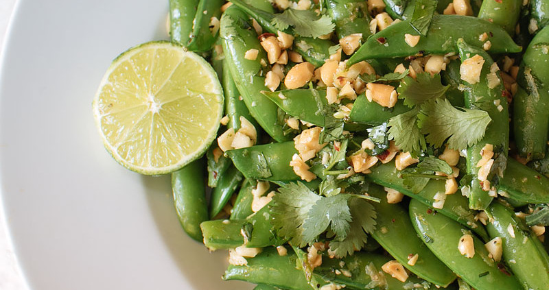 cilantro lime snap peas recipe on fmitk.com