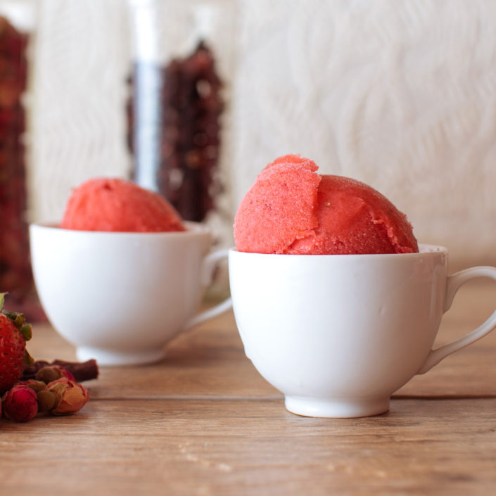strawberry hibiscus rose sorbet on fmitk.com