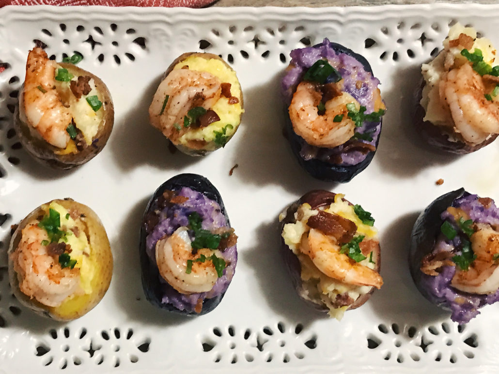 mini twice-baked potatoes with shrimp recipe on fmitk.com